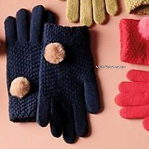 NWT ANTHROPOLOGIE Pommed Waffle Knit Gloves